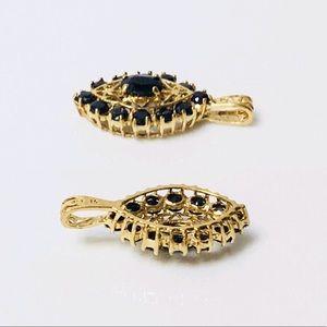 Fine Jewelry Jewelry - 10k Gold Blue Sapphire Pendant